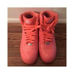 "online store 62eaf 23488 Nike Shoes - Nike Air Force 1 High Premium ""Hot Lava"""